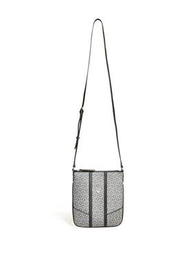 01a71e4409 Luxusní crossbody kabelka Guess Nichols logo - šedá
