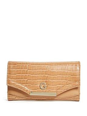 a6866dc5b3 Peněženka Guess Carly Slim - hnědá (koňak)