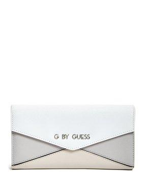 882e5f0624 Peněženka Guess Zaylee Tan Envelope - bílá